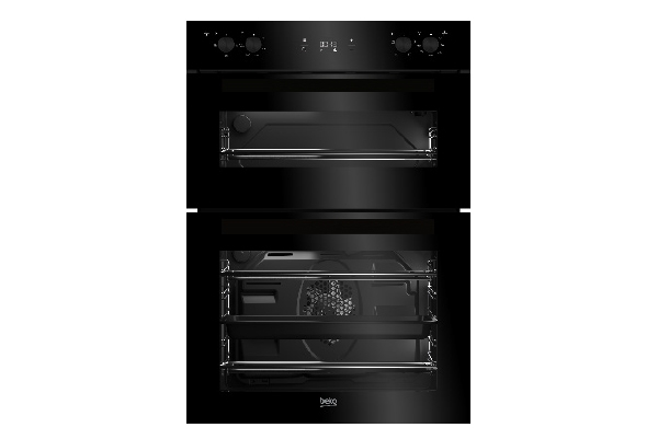 Double Oven 60cm Black