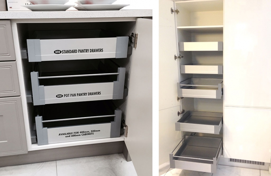 Kitchen Pantry Drawers For 400mm To 600mm Base Units